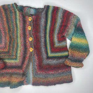 Vintage Kids Gender Neutral Knit Monkey Cardigan